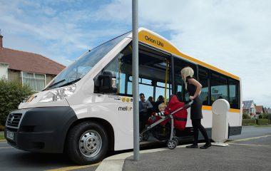 orion lite minibus pram on boarding