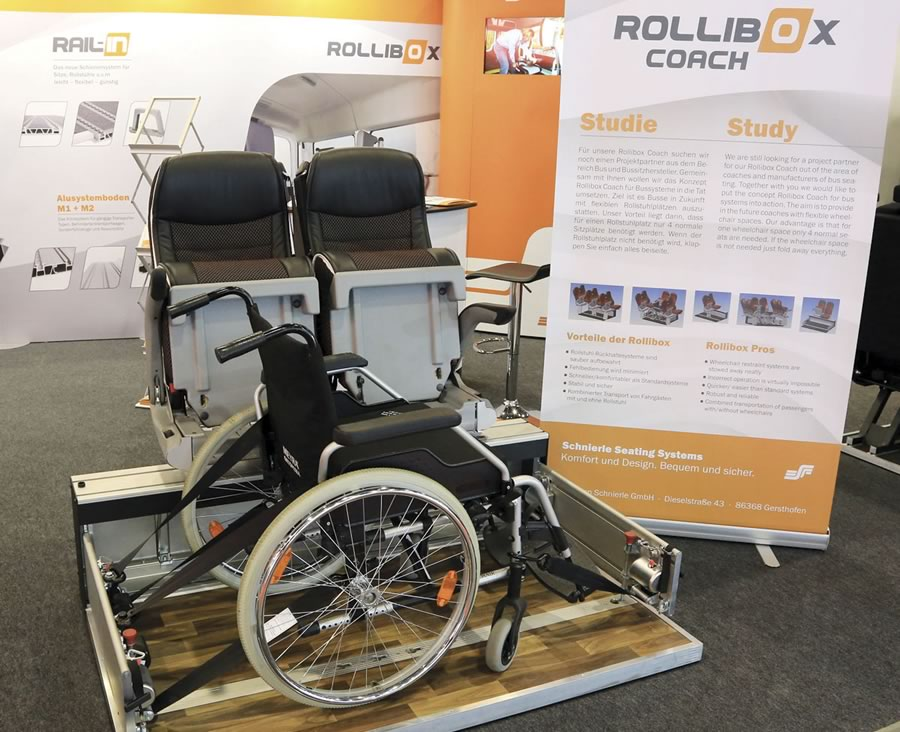 Rollibox concept for coach from Schnierle Seating Systems
